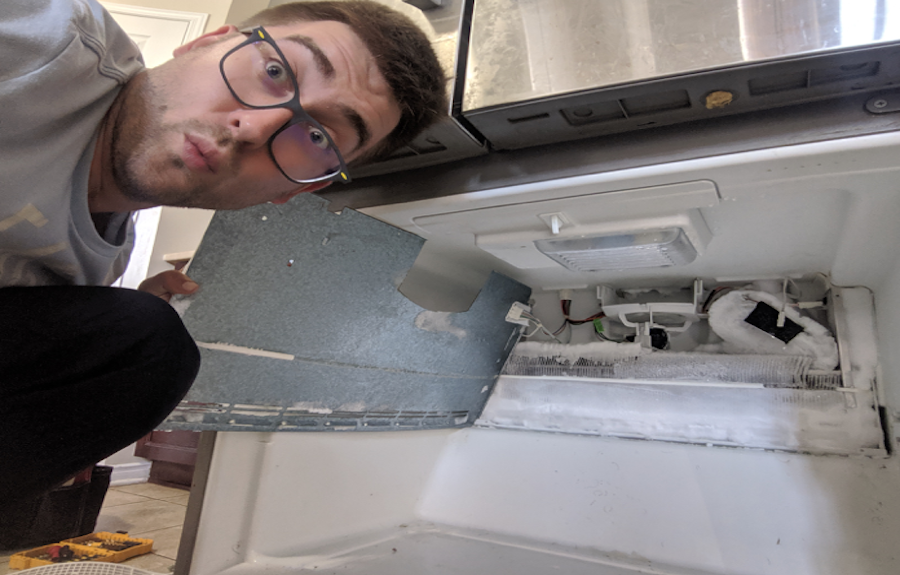 ice build up in fridge